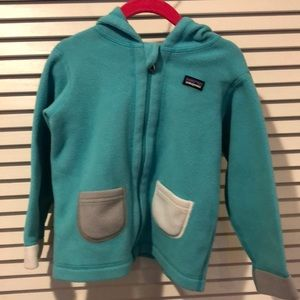 Patagonia Fleece- With hood and ears! Size 3T